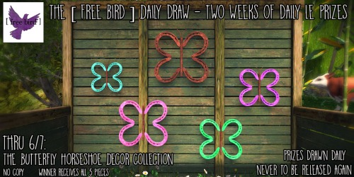 [ free bird ] Daily Draw LE Butterfly Horseshoe Decor