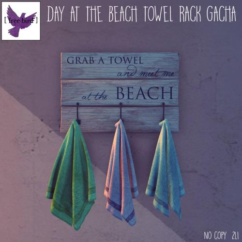 [ free bird ] Day at the Beach Towel Rack Gacha Ad
