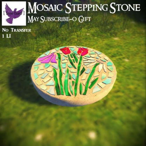 [ free bird ] May Subscribe-O Gift - Mosaic Stepping Stone (1)