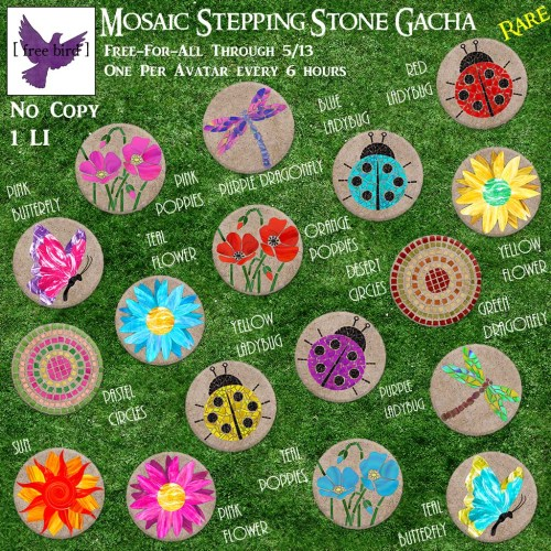 [ free bird ] Mosaic Stepping Stone Free-For-All Ad