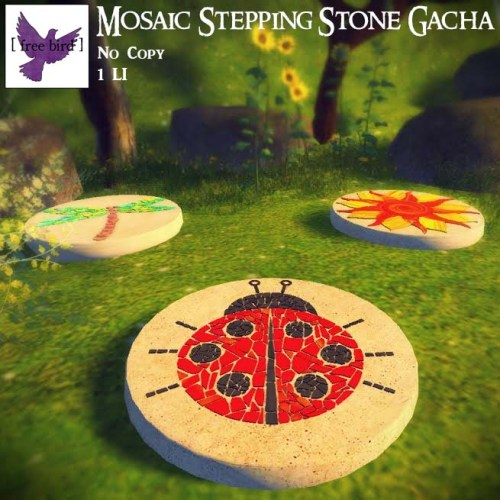 [ free bird ] Mosaic Stepping Stones Ad