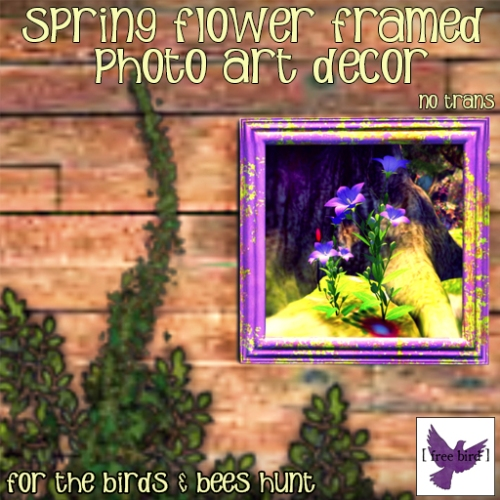 [ free bird ] Spring Flower Framed Photo Art