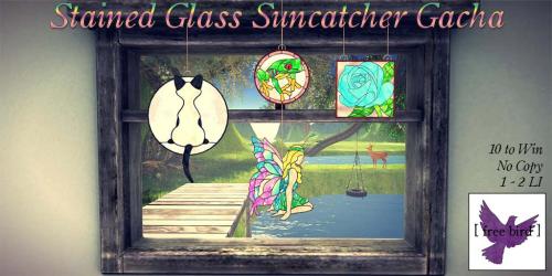 [ free bird ] Stained Glass Suncatcher Ad