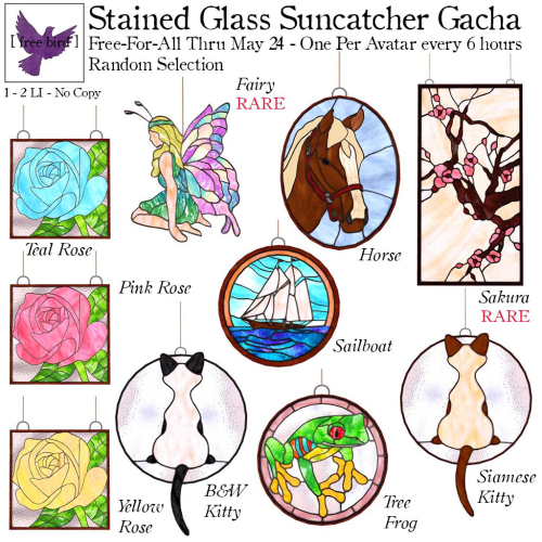 [ free bird ] Stained Glass Suncatcher Free-For-All Ad
