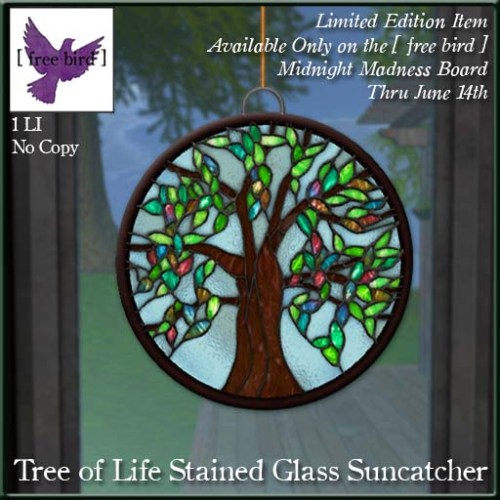 [ free bird ] Limited Edition Tree of Life Suncatcher MM Ad