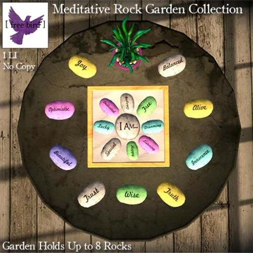 [ free bird ] Meditative Rock Garden Collection