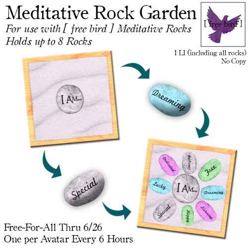 [ free bird ] Meditative Rock Garden Free-For-All Ad