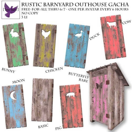 [ free bird ] Rustic Barnyard Outhouse Free-For-All
