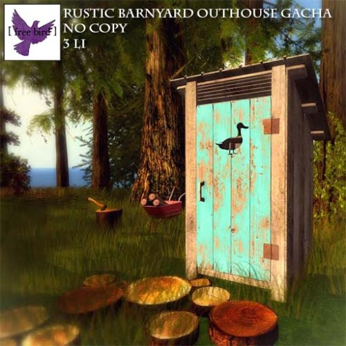 [ free bird ] Rustic Barnyard Outhouse Glam