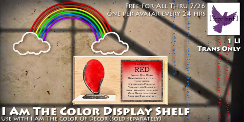 [ free bird ] I Am The Color Display Shelf Free-For-All Ad