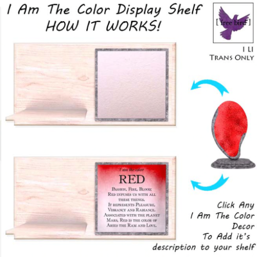 [ free bird ] I Am The Color Display Shelf How-To