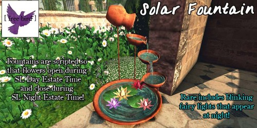[ free bird ] Solar Fountain Advertisement
