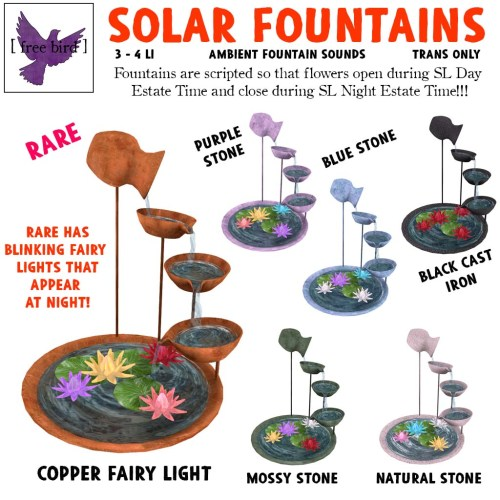[ free bird ] Solar Fountain Gacha