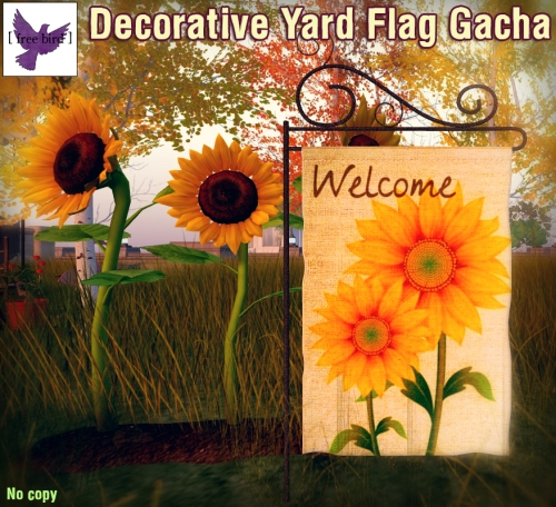 [ free bird ] Decorative Yard Flag Gacha Ad