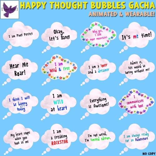 [ free bird ] Happy Thought Bubbles Gacha