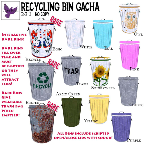 [ free bird ] Recycling Bin Gacha Key
