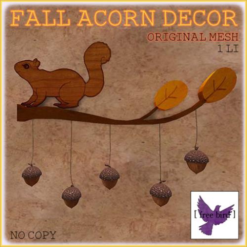 [ free bird ] Fall Acorn Decor Ad
