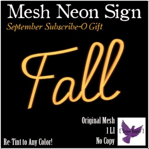 [ free bird ] Fall Neon Sign Ad