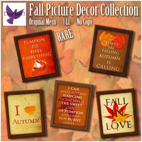 [ free bird ] Fall Picture Decor Collection Key