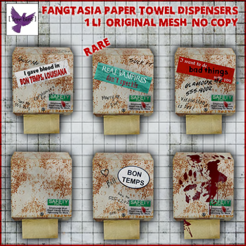 [ free bird ] Fangtasia Paper Towel Dispenser Gacha Ad