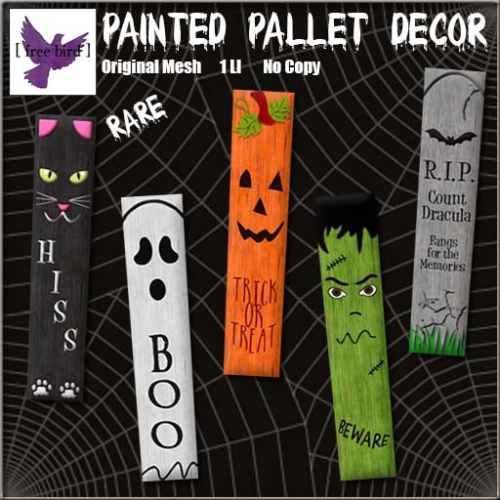 [ free bird ] Halloween Painted Pallet Decor Ad