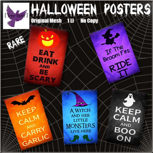 [ free bird ] Halloween Poster Collection Ad