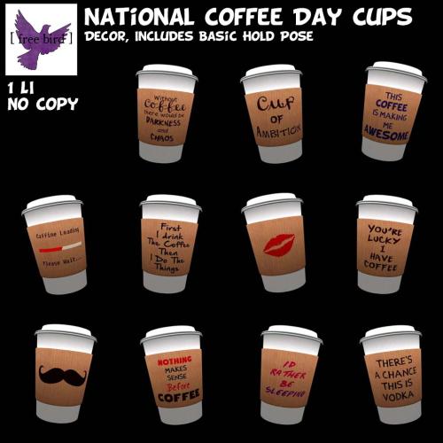 [ free bird ] National Coffee Day Cup Gacha