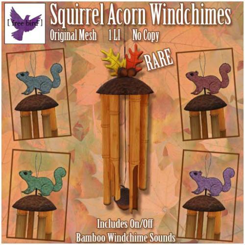 [ free bird ] Squirrel Acorn Windchimes Gacha Key