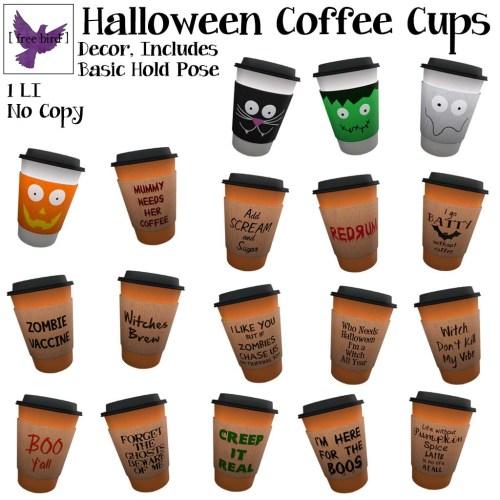 [ free bird ] Halloween Coffee Cups Gacha Key