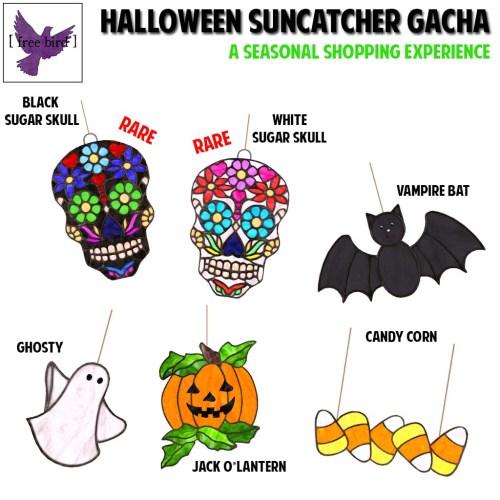 [ free bird ] Halloween Suncatcher Gacha