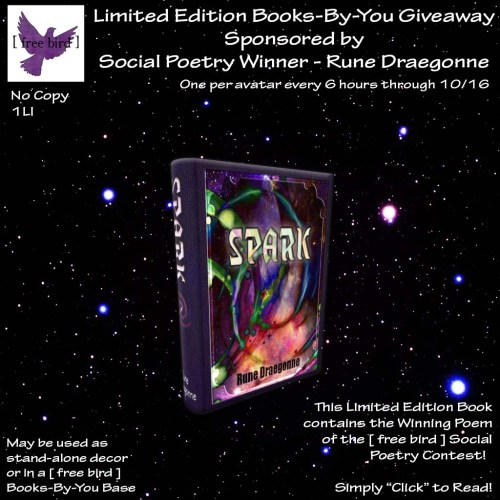 [ free bird ] Limited Edition Books-By-You Social Poetry - Spark