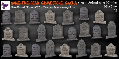 [ free bird ] Name-the-Dead Gravestone FFA