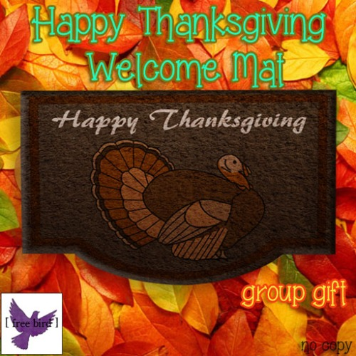 [ free bird ] Happy Thanksgiving Welcome Mat Group Gift
