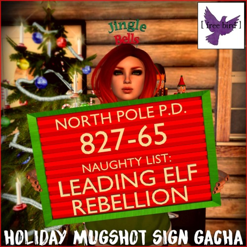 [ free bird ] Holiday Mugshot Sign Gacha