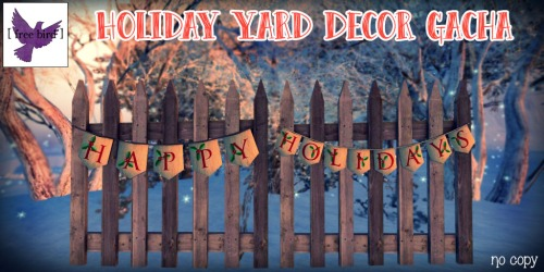 [ free bird ] Holiday Yard Decor Gacha Collection