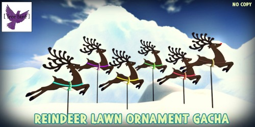 [ free bird ] Reindeer Lawn Ornament Gacha Collection