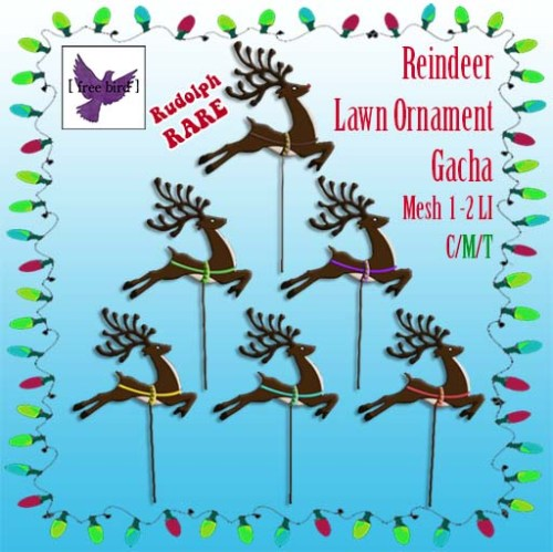 [ free bird ] Reindeer Lawn Ornament Gacha Sign