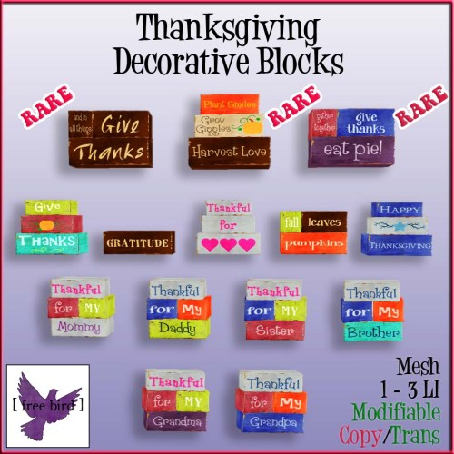 [ free bird ] Thanksgiving Block Gacha