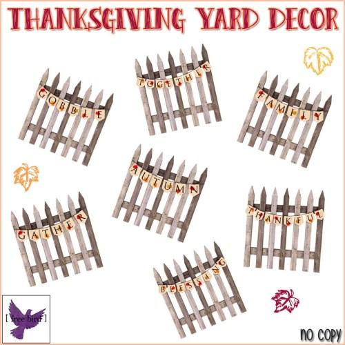 [ free bird ] Thanksgiving Yard Decor Gacha Key