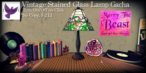 [ free bird ] Vintage Stained Glass Lamp Ad