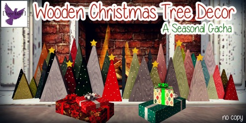 [ free bird ] Wooden Christmas Tree Decor Gacha Collection