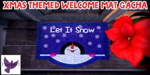 [ free bird ] Xmas Themed Welcome Mat Gacha Collection