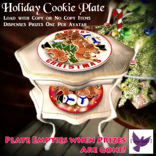 [ free bird ] Holiday Cookie Plate Ad