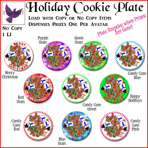 [ free bird ] Holiday Cookie Plate Gacha Key