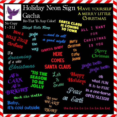 [ free bird ] Holiday Neon Sign Gacha Key