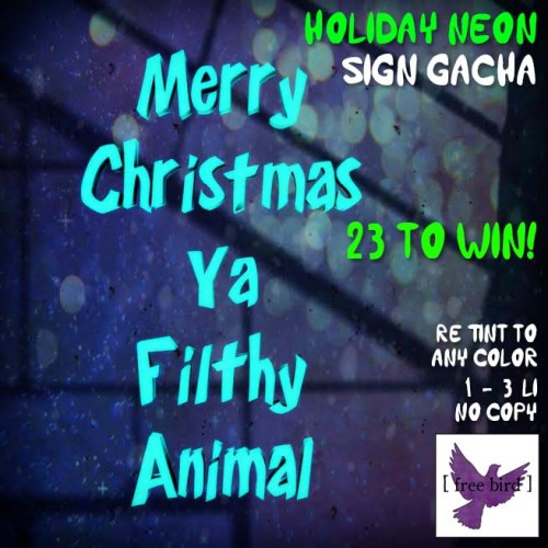 [ free bird ] Holiday Neon Sign Gacha