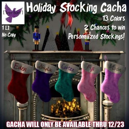[ free bird ] Holiday Stocking Gacha Ad