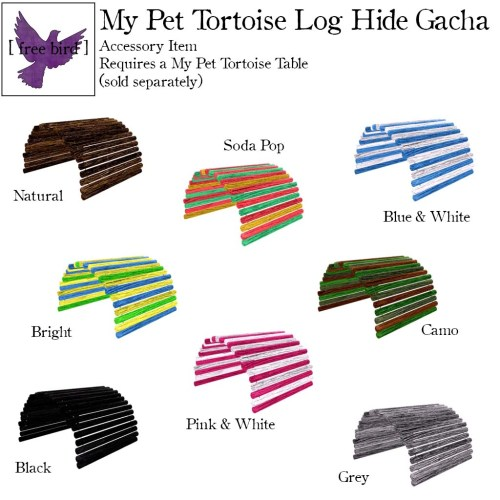 [ free bird ] My Pet Tortoise Log Hide Gacha Key.jpg