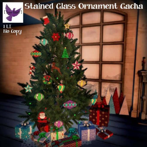 [ free bird ] Stained Glass Ornament Gacha Ad