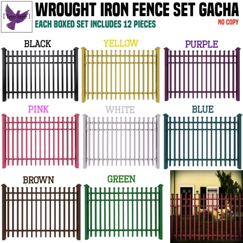 [ free bird ] Wrought Iron Fence Set Gacha Collection